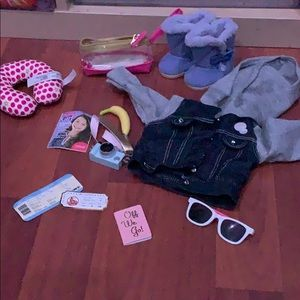 American Girl travel in style with coat  and boots